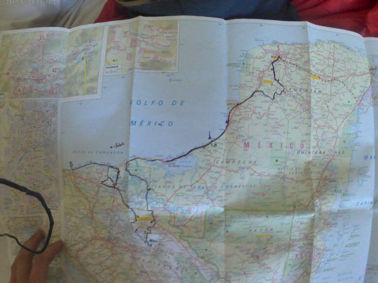 Mexiko-Karte zur Routenplanung